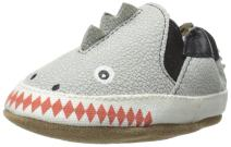 Robeez Baby Boy Shoes, Baby Crib Shoes for Boys, Crosshatch, 0-24 Months