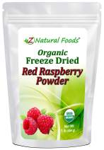 Organic Red Raspberry Powder - Freeze Dried Fruit Powder For Smoothie, Drinks, Baking & Recipes - Powdered Berry Superfood - All Natural, Unsweetened, Raw, Non GMO, Vegan, Gluten Free - 1 lb