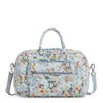Vera Bradley Signature Cotton Compact Weekender Travel Bag, Floating Garden
