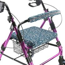 Walker Seat Cover Rollator Walker Seat and Backrest Covers Vibrant Walker Cover One Size Multiple Colors (CB1882)