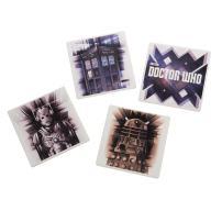 Vandor 16085 Doctor Who 4 Piece Ceramic Coaster Set, Multicolored