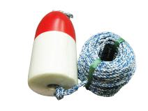 KUFA 100'  non-lead sinking line & 11'' Red/White float combo FWS100