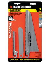 BLACK+DECKER Replacement Blade Set For Electric Hand Saw, Navigator Models, 3-Piece (74-598)