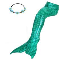 GALLDEALS Mermaid Bathing Suit Swimsuit Cosplay Costume for Kids Girls Adults (No Monofin)