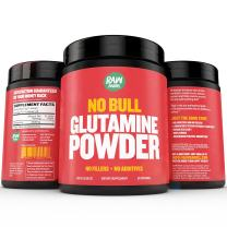 Raw Barrels - Pure L Glutamine Powder - Unflavored and Micronized - 300g, 60 Servings