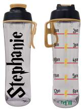 50 Strong BPA-free Reusable Water Bottle with Time Marker, 24 Ounces (Wizard World)