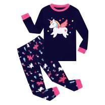 Joyond Pajamas Set for Girls Long Cotton Pajama Sets Toddler Kids Pjs for Girl Sleepwear