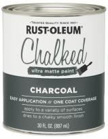 Rust-Oleum 285144 Ultra Matte Interior Chalked Paint 30 oz, Charcoal