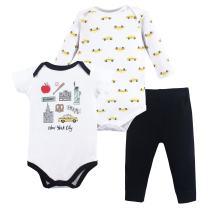 Hudson Baby Long Sleeve Bodysuit, Bodysuit and Pant