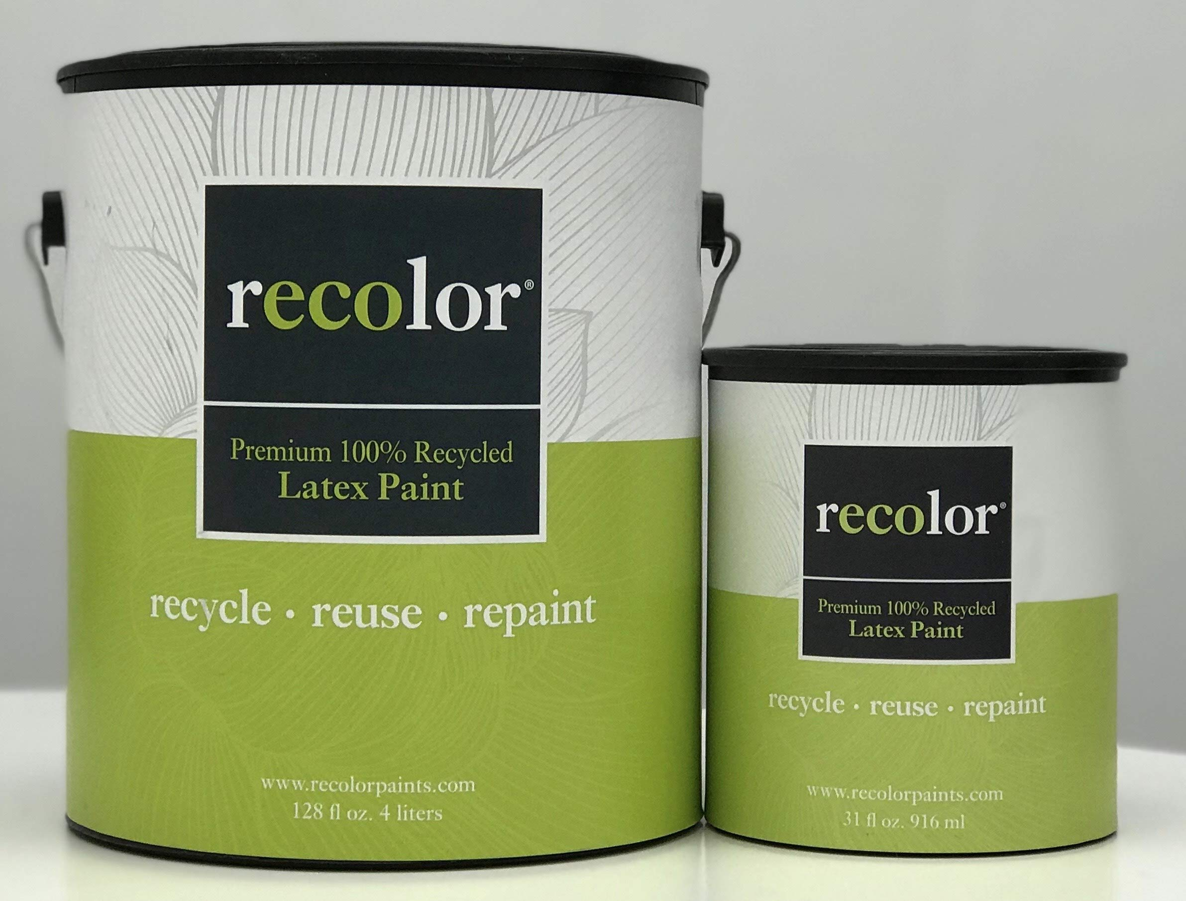 RECOLOR Paint 100% Recycled Interior Latex Paint Wall Finish, 1 Gallon, Interior - Clay