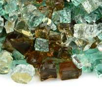 Irish Roast - Fire Glass Blend for Indoor and Outdoor Fire Pits or Fireplaces   10 Pounds   1/2 Inch