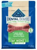Blue Buffalo Dental Bones Natural Adult Dental Chew Dog Treats  Mini 27oz bag Value Pack