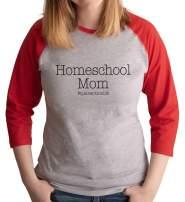 7 ate 9 Apparel Womens Homeschool Mom Red Raglan Tee