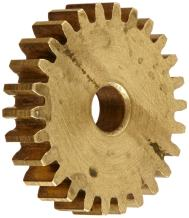 "Boston Gear G110 Spur Gear, 14.5 Pressure Angle, Brass, Inch, 32 Pitch, 0.312"" Bore, 2.062"" OD, 0.062"" Face Width, 64 Teeth"