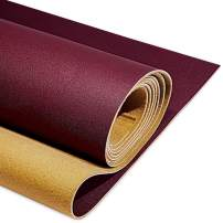 """PU Fabric Leather 2 Yards 54"""" x 72"""", 1.25mm Thick Faux Synthetic Leather Material Sheets for Upholstery Crafts, DIY Sewings, Sofa, Handbag, Hair Bows Decorations, Burgundy Red"""