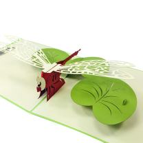 Dragon Fly - WOW 3D Pop Up Greeting Card - Suitable for Birthday, Goodluck, Congrats, Halloween, Get well, Goodbye.