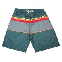 Ivoguey Mens Swim Trunks, Quick Dry Board Shorts with Mesh Lining