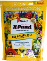 X-Seed 440AS0088UC Bee Pollen Mix Combination Wildflower Seed, 1 lb, Yellow