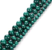 Natural Stone Real 6mm Malachite Gemstone Round Loose Beads Crystal Energy Stone Healing Power for Jewelry Making DIY,1 Strand 15""