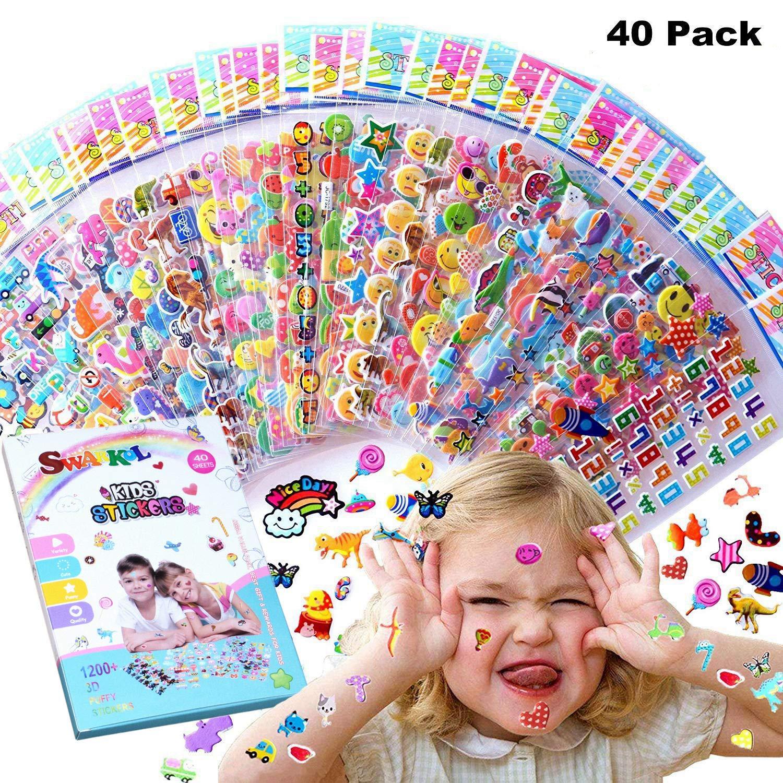 Kids Stickers 3D Puffy Bulk Cartoon Zoo Animal Scrapbooking x Stickers 1 M4P4