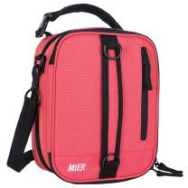 MIER Insulated Lunch Box Bag Expandable Lunch Pack for Men, Women, Pink