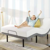 Mellow Genie 500 - Adjustable Bed Base, Unique Added Head Tilt, Wireless Remote Control, 5 Minute Tool-Free Assembly,  Dual USB Charging Ports, Queen