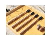 AMDXD Bamboo Toothbrush Nylon 4 Organic Toothbrush Extra Soft Toothbrush Bamboo Soft Eco Friendly