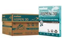 "BOISE ASPEN 30% Recycled Multi-Use Copy Paper, 8.5"" x 11"" Letter, 92 Bright White, 20 lb, 10 Ream Carton (5,000 Sheets)"