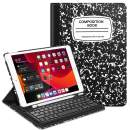 """Fintie Keyboard Case for iPad 7th Generation 10.2"""" 2019-360 Degree Rotating Smart Stand Cover w/Pencil Holder, Built-in Wireless Bluetooth Keyboard for iPad 10.2"""" Tablet, Composition Book Black"""