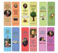 Creanoso Beethoven Jokes Bookmarks (12-Pack) - Stocking Stuffers Premium Quality Gift Ideas for Children, Teens, Adults - Corporate Giveaways & Party Favors