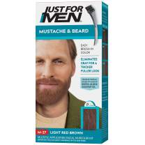 Just for Men Just for Men Mustache and Beard, Beard Coloring for Gray Hair With Brush Included - Color: Light Red Brown, M-27