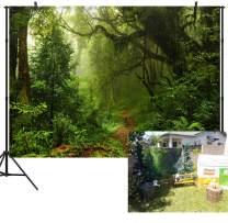Duluda 9x6FT Seamless Jungle Forest Vinyl Photography Backdrop Customized Photo Background Studio Prop TG04B