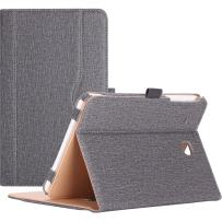 Procase Galaxy Tab E 8.0 Case - Leather Stand Folio Case Cover for Galaxy Tab E 8.0 4G LTE Tablet (Sprint,US Cellular, Verizon) SM-T377, Multiple Viewing Angles, Document Card Pocket (Grey)