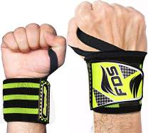 Kanzy Wrist Wraps for Weight Lifting 18 Inch Straps Professional Grade with Thumb Loops - Wrist Support Braces for Men & Women Both Multipurpose Gym Powerlifting