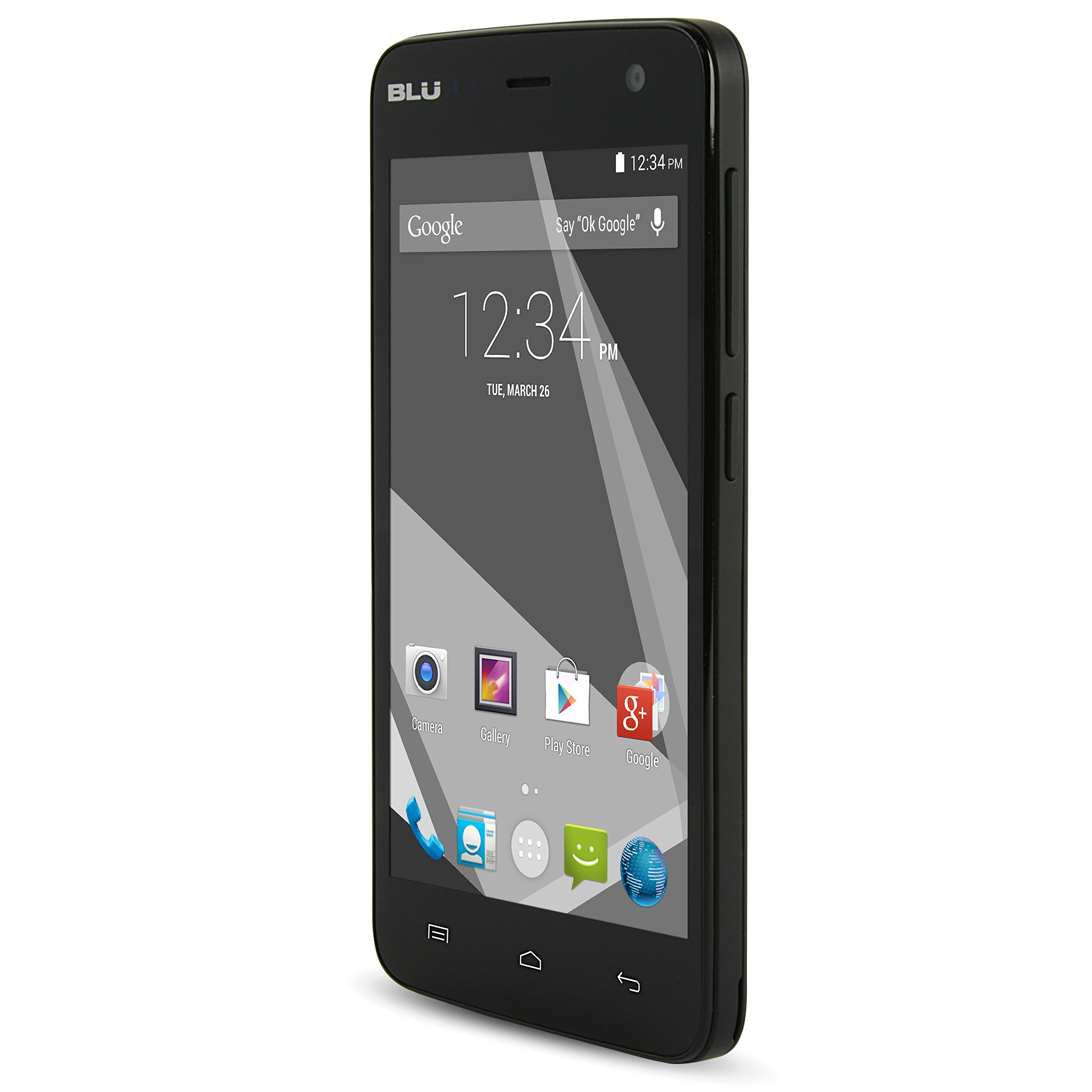 "Blu Studio C Mini Quad Core, 4.7"" IPS, Android 4.4 KK, 4G HSPA+, 5MP Camera - Unlocked Cell Phones -Black"