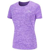 CAMEL CROWN Women's Dry-Fit Moisture Wicking Active Athletic Performance Crew T-Shirt