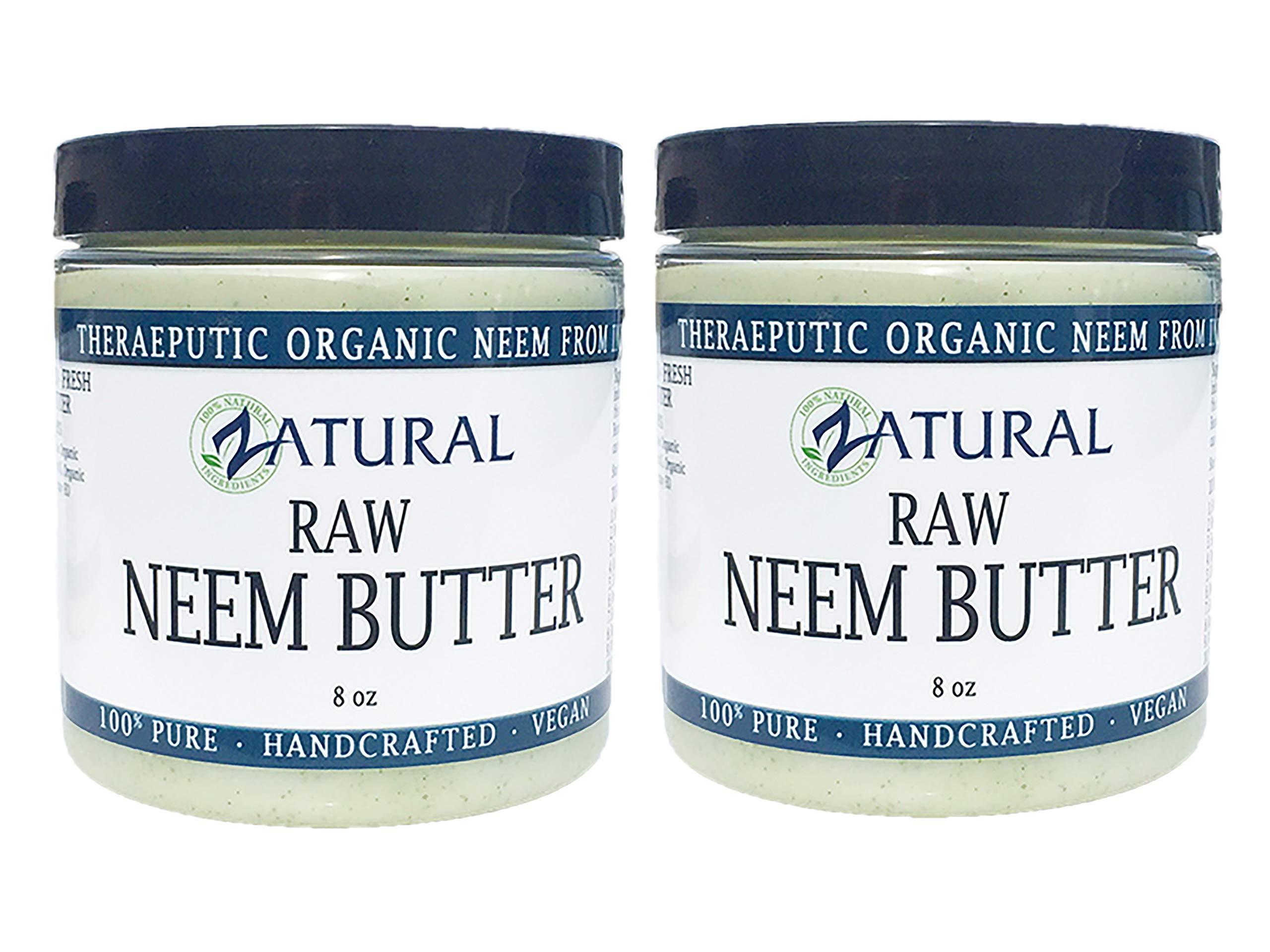 Organic Neem Butter-Coconut Oil, Neem Oil, Neem Leaf, Marula Oil, Kokum Butter, Rosemary (2 Pack)