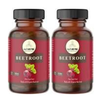 Naturevibe Botanicals Beet Capsules, Ultra-Premium –100% Organic Beet Root Powder, 1100mg Per Serving   240 Veg Capsules   Gluten Free…