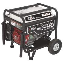 NorthStar Portable Generator - 8000 Surge Watts, 6600 Rated Watts, CARB Compliant