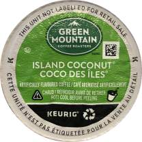 Green Mountain Coffee Roasters Island Coconut, Single-Serve Keurig K-Cup Pod, Flavored Light Roast Coffee, 72 Count