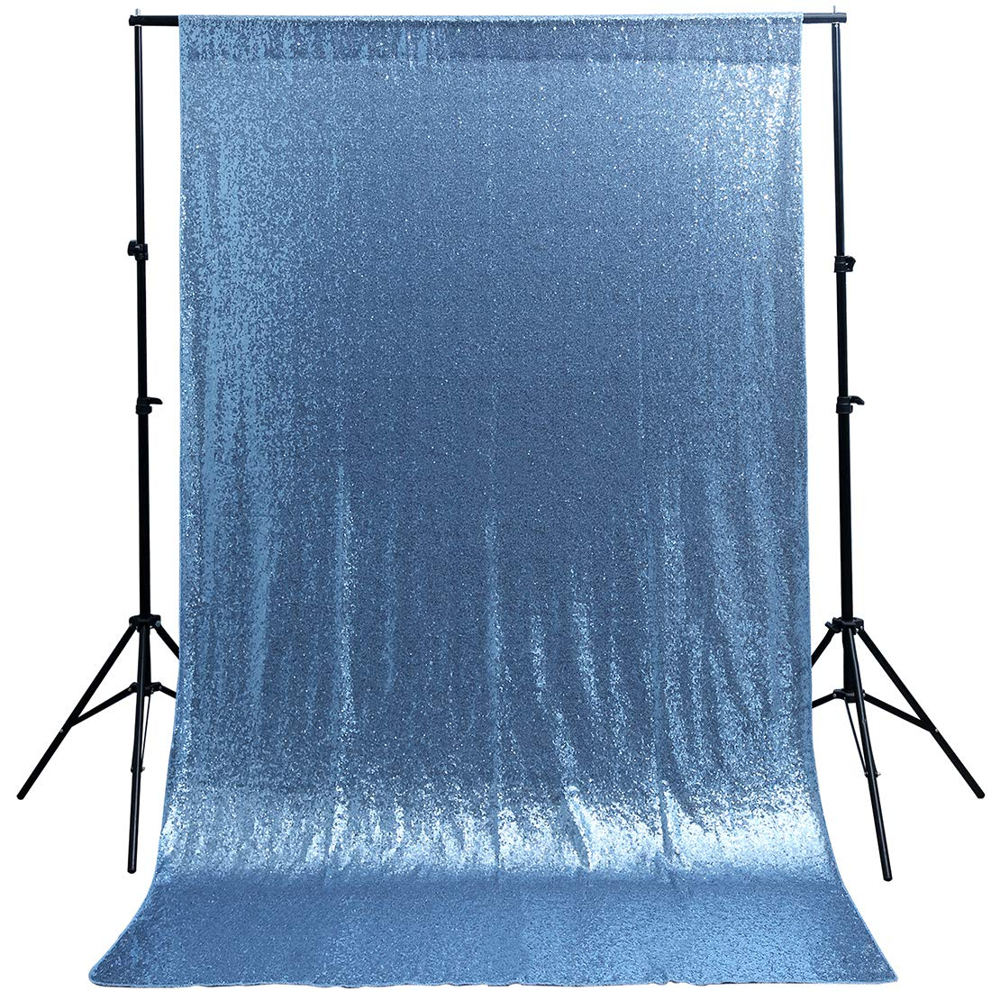 B-COOL Sequin Backdrop 4ft x 8ft Glitter Backdrop Baby Blue Sparkly Photo Booth for Wedding Party Birthday Decor Shiny Photograyphy