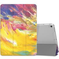 """MoKo Case Fit New iPad Air (3rd Generation) 10.5"""" 2019/iPad Pro 10.5 2017 - Slim Lightweight Smart Shell Stand Cover with Translucent Frosted Back Protector - Painted Sky (Auto Wake/Sleep)"""