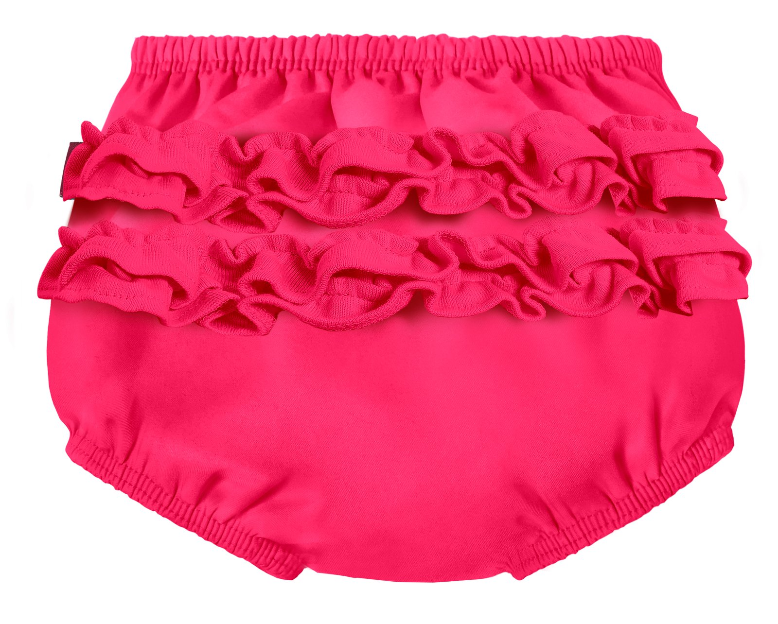 City Threads Baby Girls' Ruffle Swim Diaper Cover Reusable Leakproof for Swimming Pool Lessons Beach, Hot Pink, 12/18m