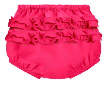 City Threads Baby Girls' Ruffle Swim Diaper Cover Reusable Leakproof for Swimming Pool Lessons Beach, Hot Pink, 3T