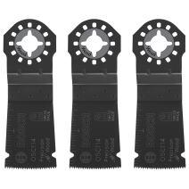 Bosch OSC114-3 1-1/4Inch x 1-5/8Inch Multi-Tool HCS Precision Plunge Cut Blades-Pack of 3