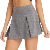 Mebiosi Womens Performance Sport Golf Tennis Skirt Running Workout Athletic Skort with Pockets