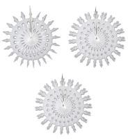 """Beistle S22876WAZ3 White Tissue Paper Snowflakes, 22"""", 3 Piece"""