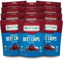 Rhythm Superfoods Beet Chips, Sea Salt, Organic and Non-GMO, 1.4 Oz (Pack of 12), Vegan/Gluten-Free Superfood Snacks