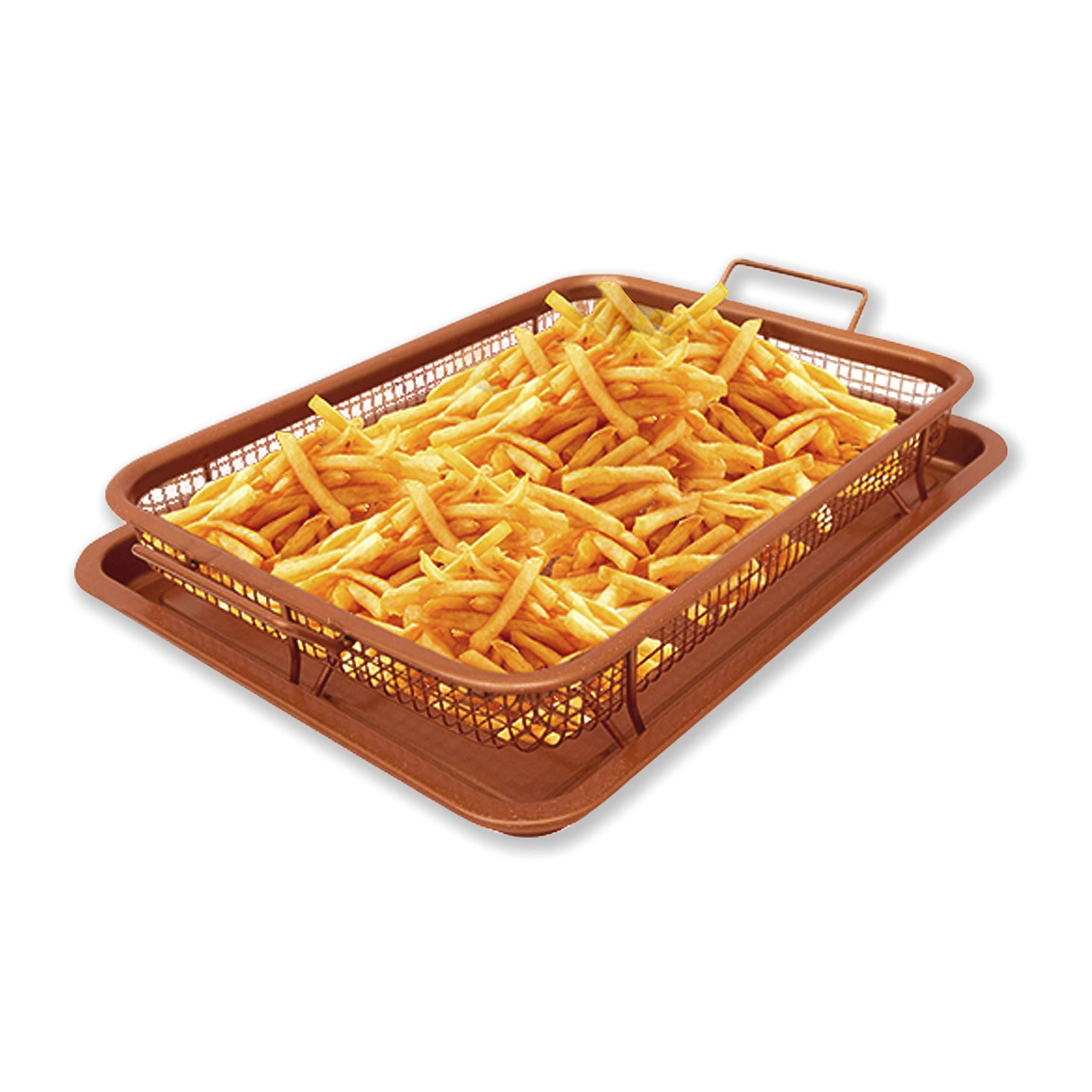 Copper Crisper Oven Air Fryer – Non Stick Crisper Tray Copper Basket Air Fryer