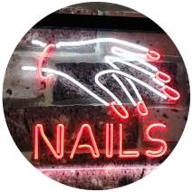 """ADVPRO Nails Beauty Salon Indoor Display Dual Color LED Neon Sign White & Red 24"""" x 16"""" st6s64-i2553-wr"""